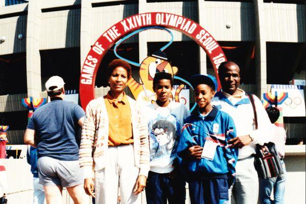 La famille Bambuck à Séoul pour le JO de 1988