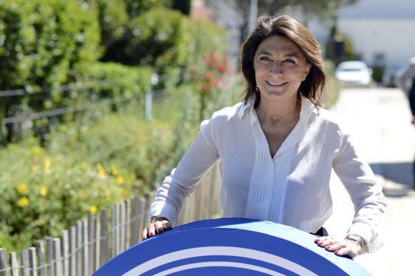 Martine Vassal au début de sa campagne pour les élections départementales.