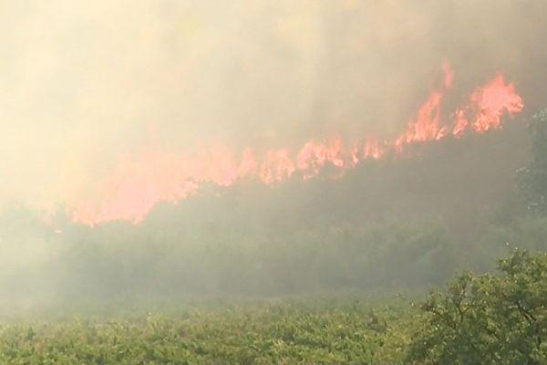 L'incendie du 16 juillet 2019 à Millas