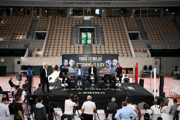 Le court central de Roland-Garros accueuillera une réunion de boxe vendredi 10 septembre