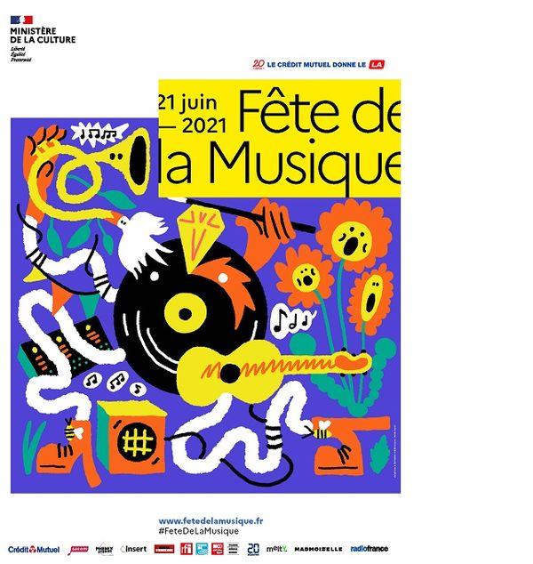 l'affiche de la Fête de la Musique 2021