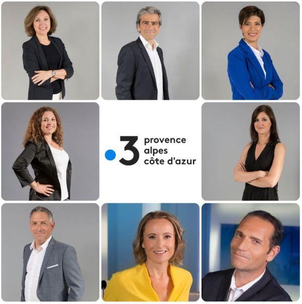 Les visages du JT en Provence-Alpes Côte d'Azur