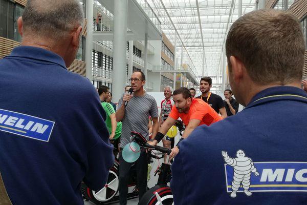 Yoann Diniz le 28 septembre chez Michelin à Clermont-Ferrand