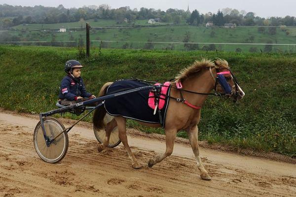 Adam Rogy et son poney Waterland Amor prendront part aux championnats de France de trot attelé à Vincennes, mi-décembre.