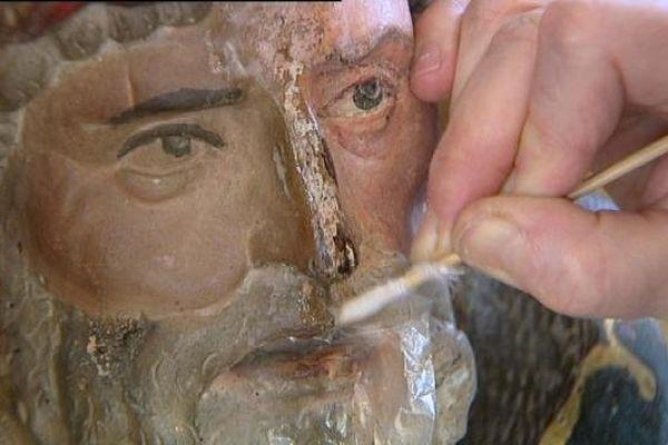 La restauration d'une oeuvre d'art à Vesoul