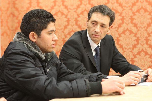 Bryan Bijaoui (à gauche) avec l'avocat de sa famille en janvier 2013