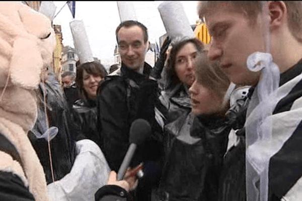 Reportage au beau milieu de ce joyeux chahut.