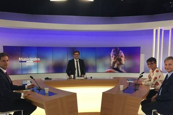 Les trois candidats à la mairie de Metz ont débattu pendant 40 minutes.