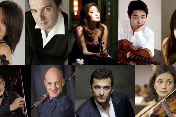 Quelques-uns des artistes de la première édition du Just Classik Festival, festival de musique de chambre à Troyes (Aube).