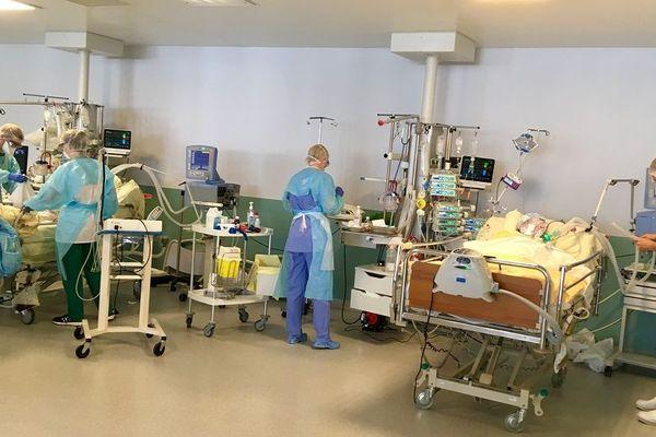 Au service de réanimation du centre hospitalier de Haguenau, le 30 mars 2020