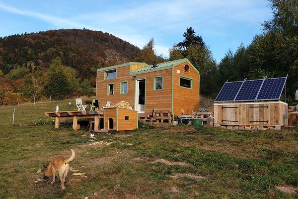 Une tiny house dans les Vosges.