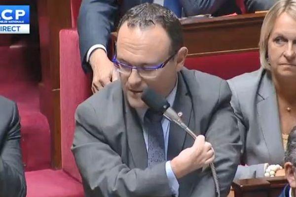 Damien Abad lors des questions au Gouvernement