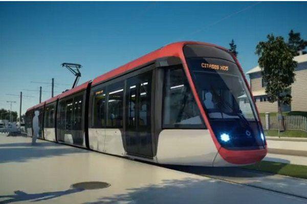Le tram ressemblera à celui-ci, sans les caténaires.