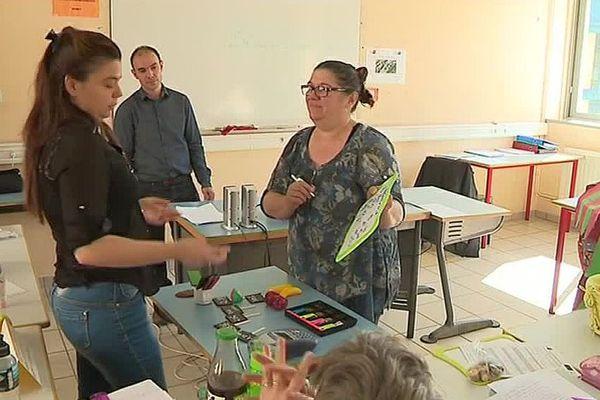 Langogne (Lozère) - le Greta de la Lozère ouvre ses enseignements aux handicapés - mai 2017.