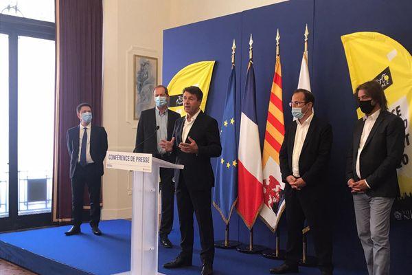 Christian Estrosi a donné une conférence de presse ce mercredi pour présenter le protocole sanitaire du Tour de France à Nice.