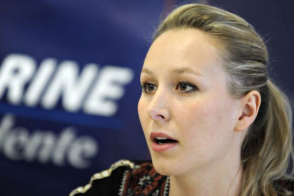 Marion Maréchal Le Pen, en meeting près d'Orléans, le 29 mars dernier.
