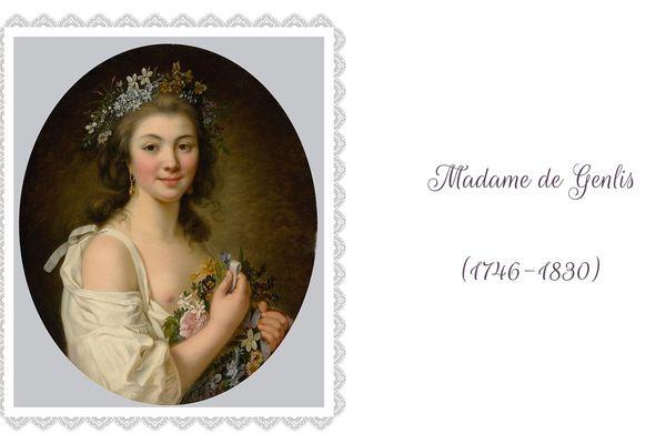 Madame de Genlis est l'une des grandes femmes de lettres de la fin du XVIIIe siècle et du début du siècle suivant. Portrait de Madame de Genlis par Marie-Victoire Lemoine (1781)