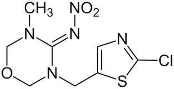 Identification de la formule chimique du thiaméthoxame.