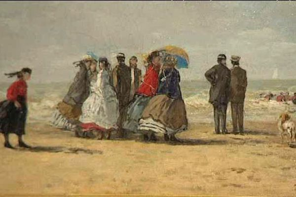 La plage à Trouville (1865)