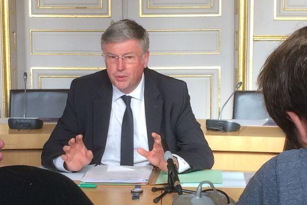 Le préfet de Loire-Atlantique Claude d'Harcourt lors d'une conférence de presse, le 8 octobre 2019
