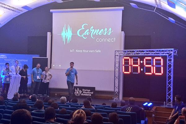 Pitch du projet Earness lors du Startup Weekend Amiens