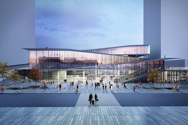 La future gare de Saint-Denis Pleyel