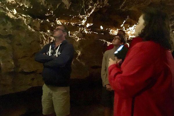 Les premiers visiteurs de l'année aux grottes de la Norée.