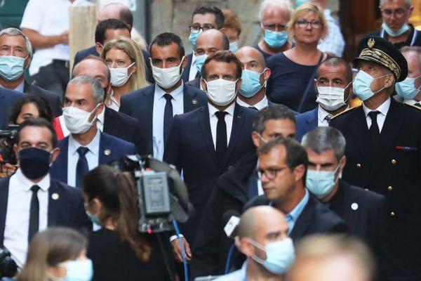 09/09/2020. Emmanuel Macron commémore la libération de la Corse à Ajaccio