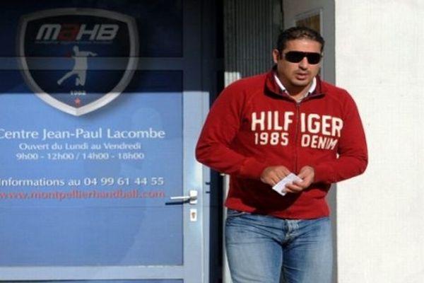 Montpellier - Issam Tej à la sortie de son entretien avec les dirigeants du club  - 30 octobre 2012.