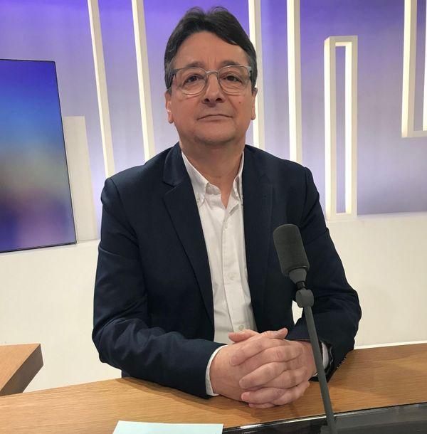 Jean-Marc Marichy, candidat aux municipales 2020 à Hayange (Moselle), présent sur le plateau de France 3 Lorraine.