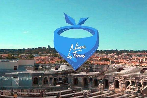 Nîmes - la feria de Pentecôte 2019 et le dress code bleu.