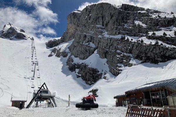 Le domaine skiable de la station de la Clusaz, le 20 mai 2021.