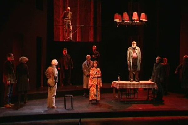 La Comédie Française en répétition au Théâtre d'Orléans pour la pièce  « La visite de la vieille dame »