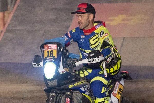 Michaël Metge sur une moto d'un fabricant gardois - janvier 2019
