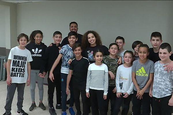 L'équipe de jeunes talents prometteurs du hip-hop de Gardanne.