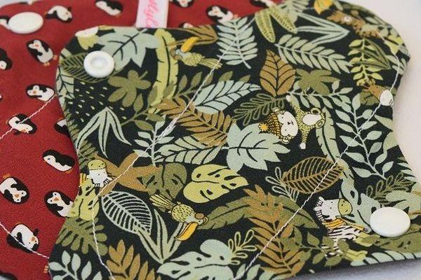 Confectionnées avec du coton bio, Marie a créé des serviettes hygiéniques éco-responsables et réutilisables.