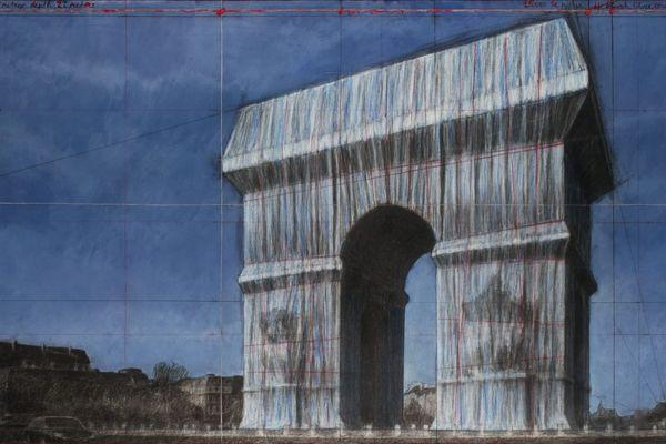 L'emballage éphémère de l'Arc de Triomphe avec du tissu par l'artiste Christo est repoussé à l'automne 2020.