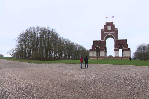 Le mémorial de Thiepval, ici le 26 décembre 2020, est l'un des sites emblématiques de la Somme.