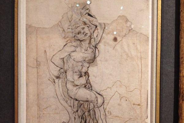 Le dessin attribué à De Vinci est estimé à 15 millions d'euros.