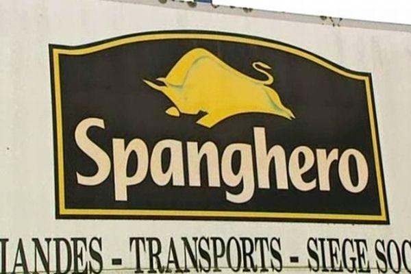 Castelnaudary (Aude) - panneau Spanghero devant l'entreprise - février 2013.
