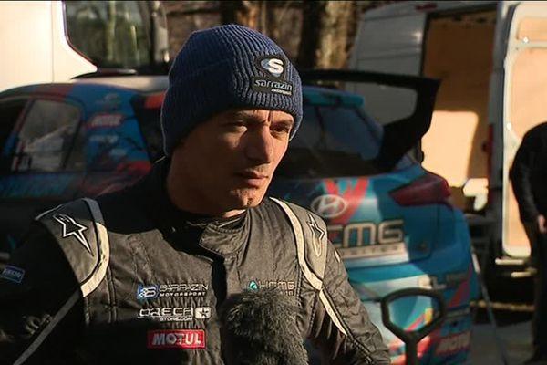 Le pilote du Gard s'est entraîné dans les Cévennes avant le rallye de Monte-Carlo.