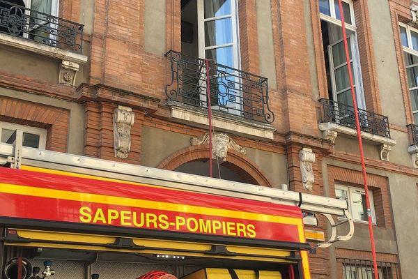 L'incendie a pris dans le plancher entre le 1er et le 2ème étage.