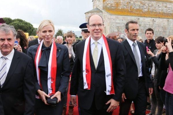 Le prince Albert II de Monaco et la princesse Charlène à Lucciana en mémoire de Sainte Dévote
