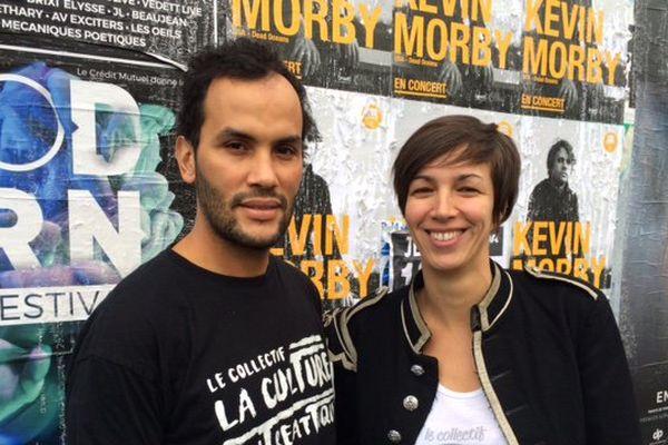 Tarik et Nohanne, porte-paroles du collectif et instigateurs du projet