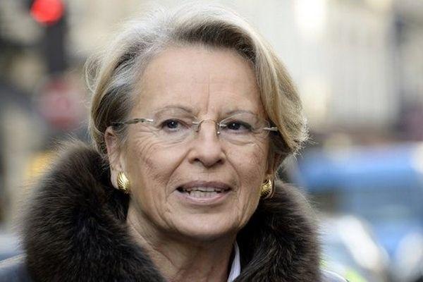 Michèle  Alliot-Marie le 5 décembre 2013 à Paris.