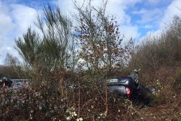 Accident sur l'A20 samedi 5 mars 2016 : seulement des dégâts matériels