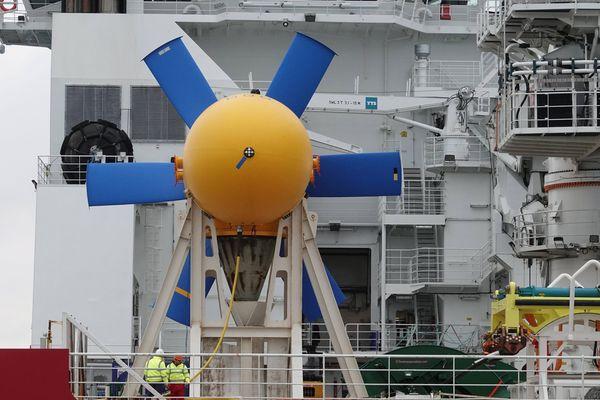 La turbine immergée en octobre 2018 faisait l'objet d'une opération de maintenance à la suite d'un défaut.