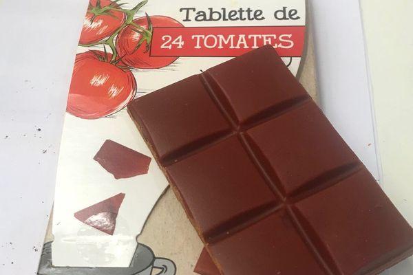 Une tablette de légumes (et de beurre de cacao).