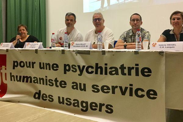 Une délégation d'établissements du Grand-Est s'est réunie car la psychiatrie est en mauvais état dans la région.