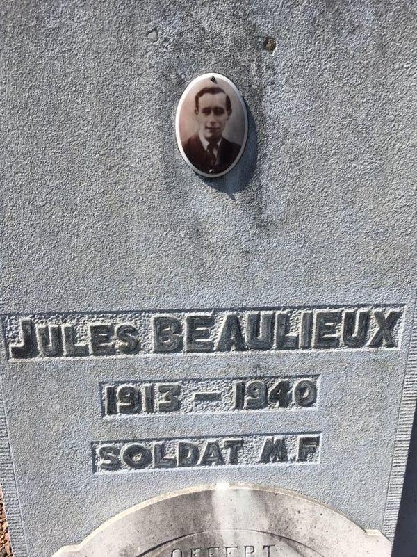 La tombe du soldat Beaulieux à Anzin.